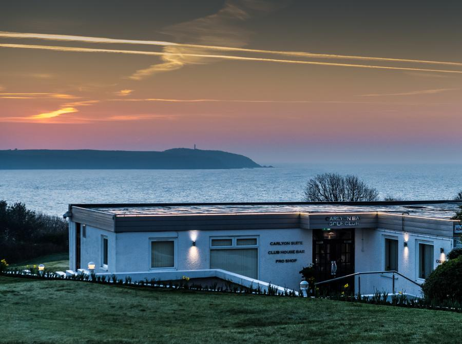 Sunrise at Carlyon golf clubhouse