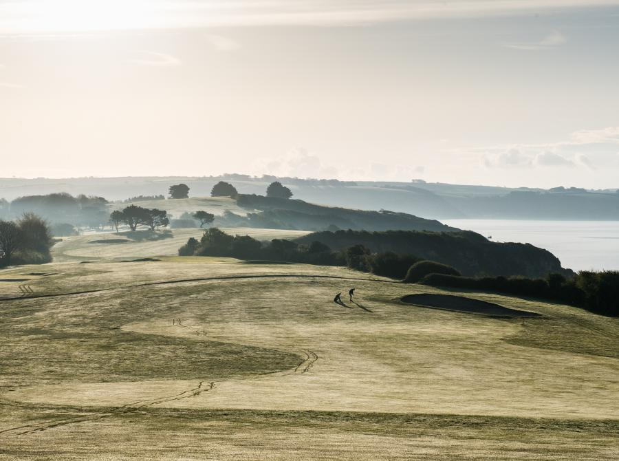 View of 18 hole championship golf course at Carlyon Bay