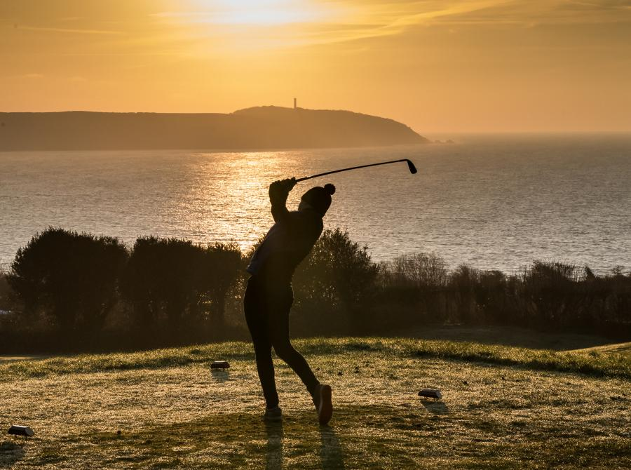 golfer sunrise gribbin in distance