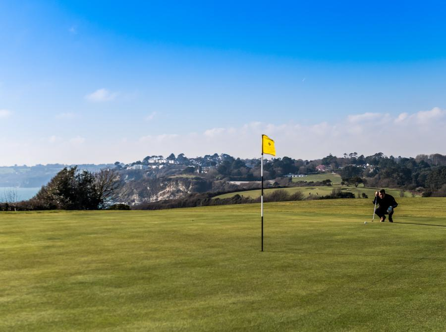 view of 6th Green back to carlyon bay golf clubhouse