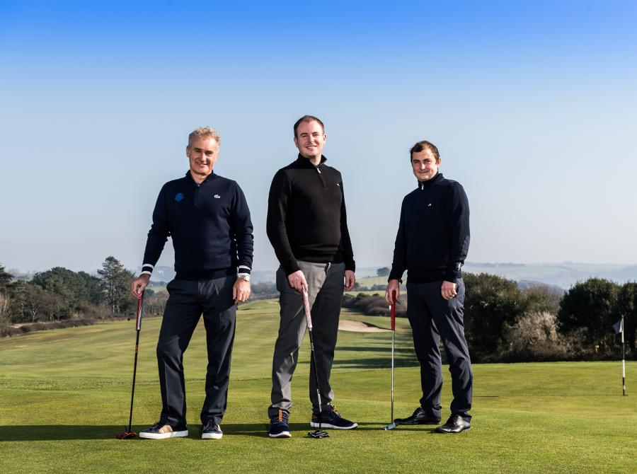 3 golf professionals at Carlyon Bay